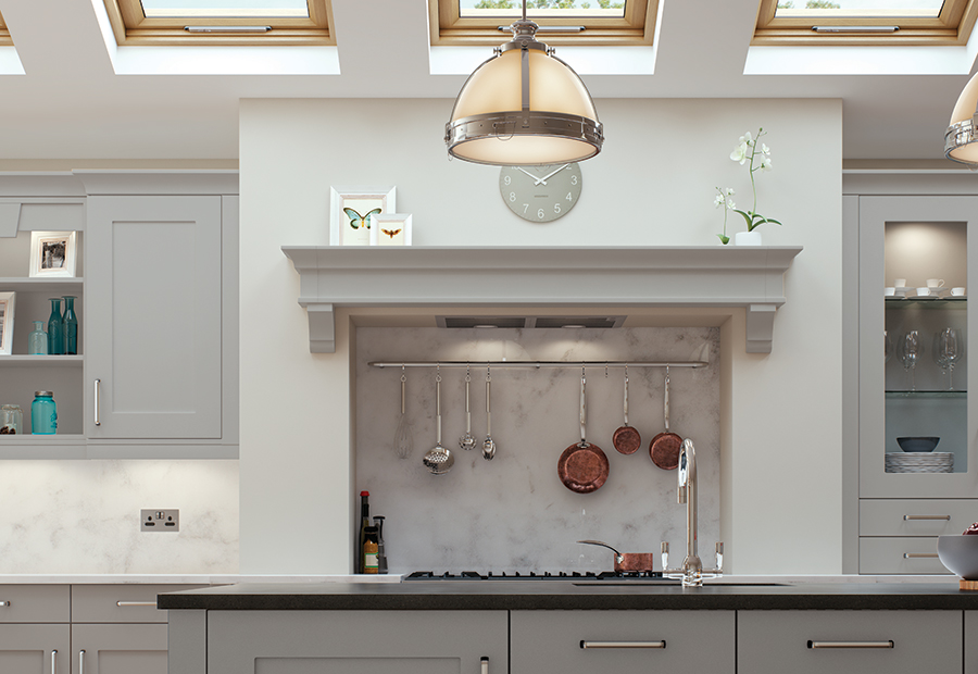 http://www.ianwoodbespokeinteriors.co.uk/wp-content/uploads/2017/01/modern-contemporary-classic-georgia-painted-light-grey-kitchen-mantle-shelf-1.jpg